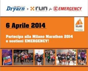 Milano Marathon: DRYARN® corre per EMERGERGENCY