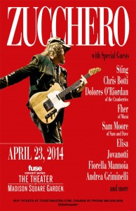 ZUCCHERO: STING  tra gli amici al Madison Square Garden Theatre di New York 23