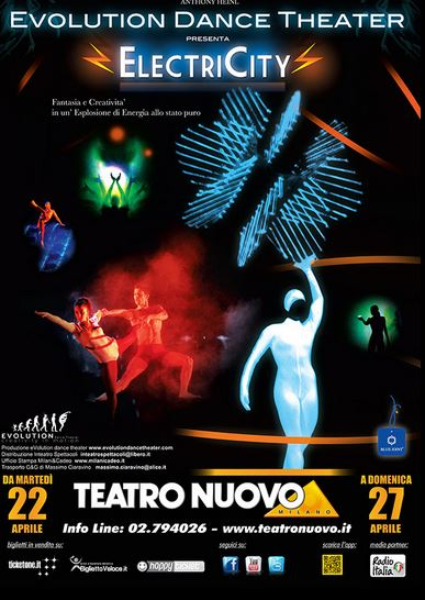 EVOLUTION DANCE THEATRE presenta   ELECTRICITY al teatro Nuovo di Milano