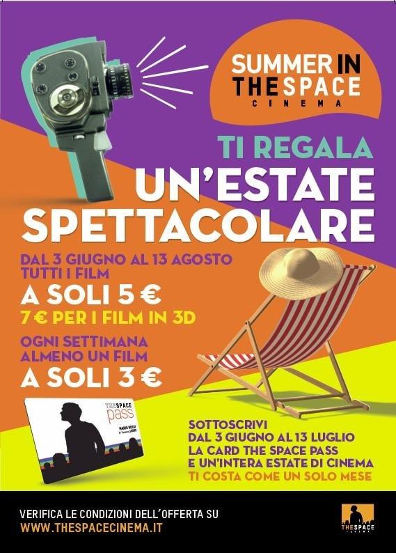 """""""Summer in The Space"""" : per andare al cinema nelle sale The Space con solo 5 Euro!"""