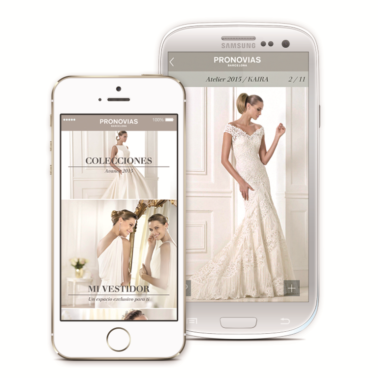 PRONOVIAS conquista le spose con nuove  APP mobili