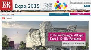 Emilia-Romagna: un sito per la partecipazione della Regione ad Expo 2015