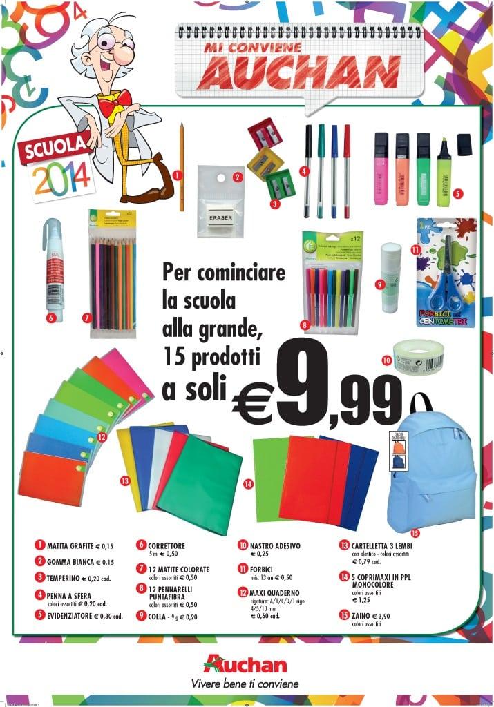Da Auchan lotta contro il caro- scuola!