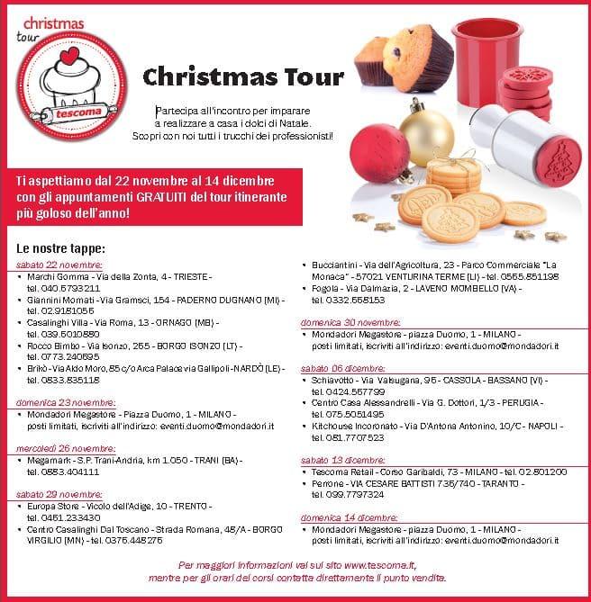 TESCOMA presenta il  CHRISTMAS TOUR, incontri gratuiti per apprendere i segreti della pasticceria natalizia