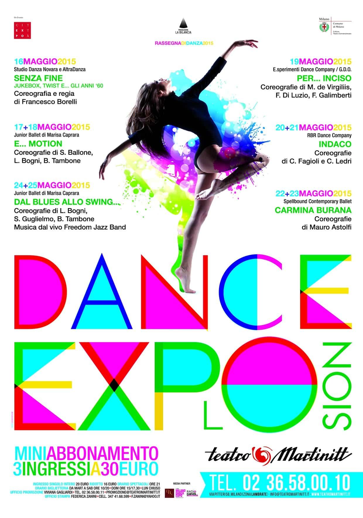 In maggio Dance Explosion al Teatro Martinitt