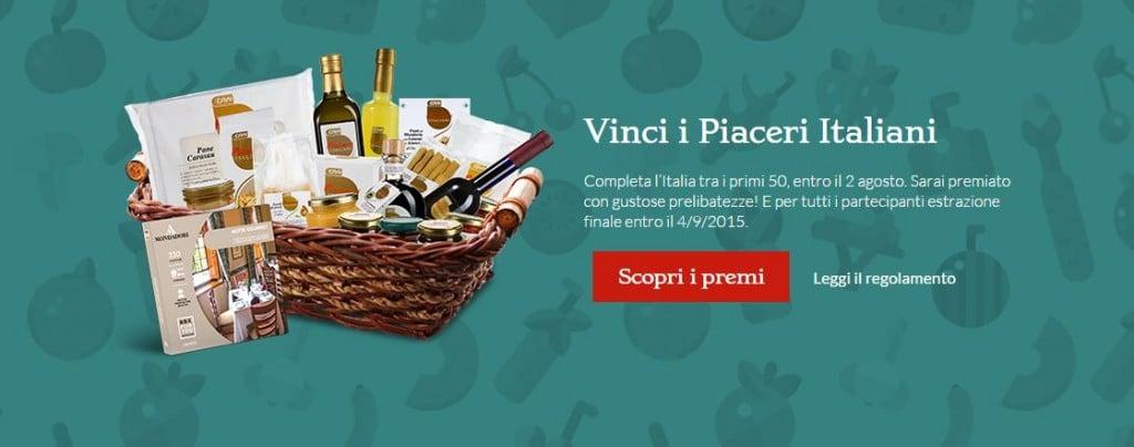 vinci i piaceri italiani
