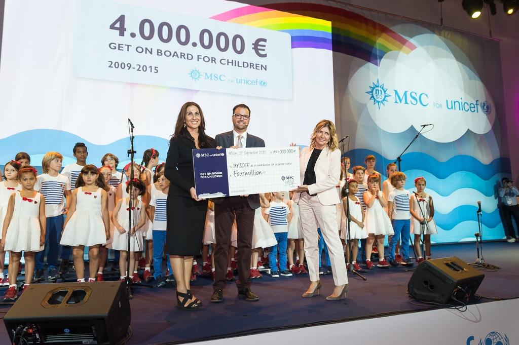 Raggiunti i 4 Mln di Euro da MSC Crociere per Unicef