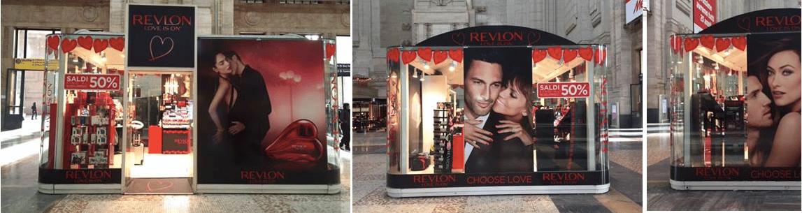 Revlon ,Temporary Store Milano e Roma