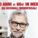 Da Ottica Avanzi e OptissimO sconto di 1 euro per ogni anno d'età