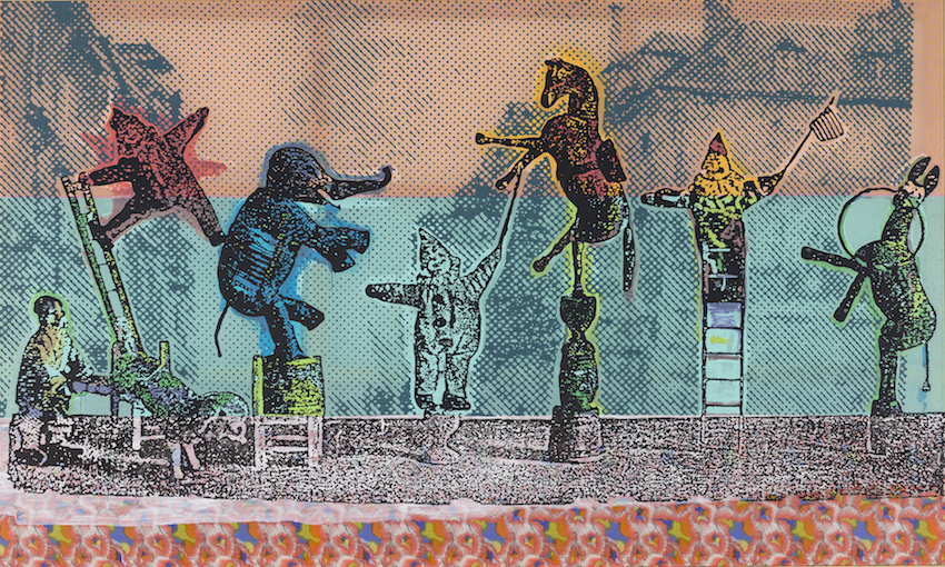 Autore: Sigmar Polke; Titolo opera: Zirkusfiguren (2005) © by SIAE 2016