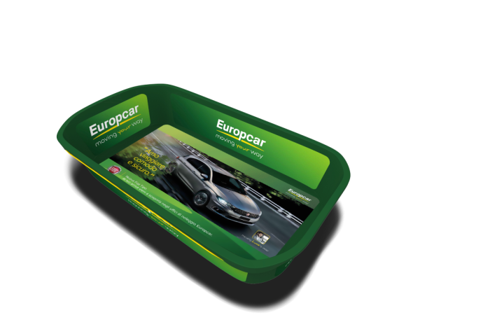 Europcar personalizza le ceste One.Tray e lancia una campagna di comunicazione unconventional