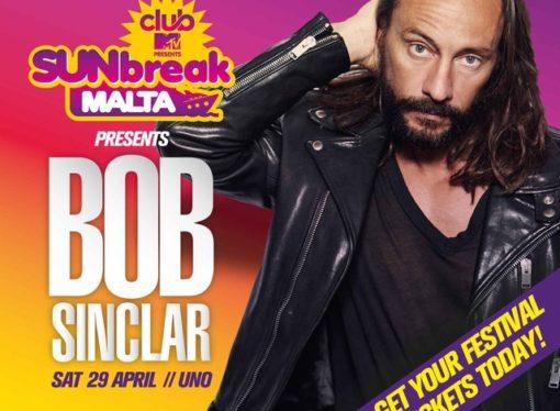 Sunbreak Malta Club Mtv by Level Up Milano. Con Bob Sinclar sul palco anche Dj Naike, Ale Zuber, Manuel Ribeca, MC Cece…