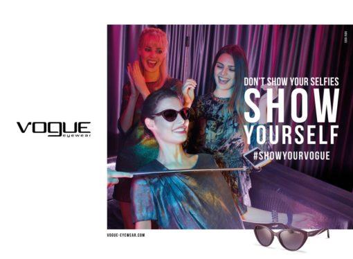 Vogue eyewear lancia la sua nuova campagna di comunicazione don't show your beauty #showyourvogue
