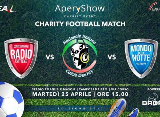 Nazionale Dj: partita di beneficenza il 25 aprile a Camposampiero (PD)… e poi tutti all'Aperyshow Benefico