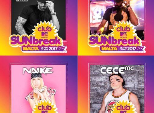 Ale Zuber, Manuel Ribeca, Naike e Cece MC fanno ballare SunBreak Malta Mtv club