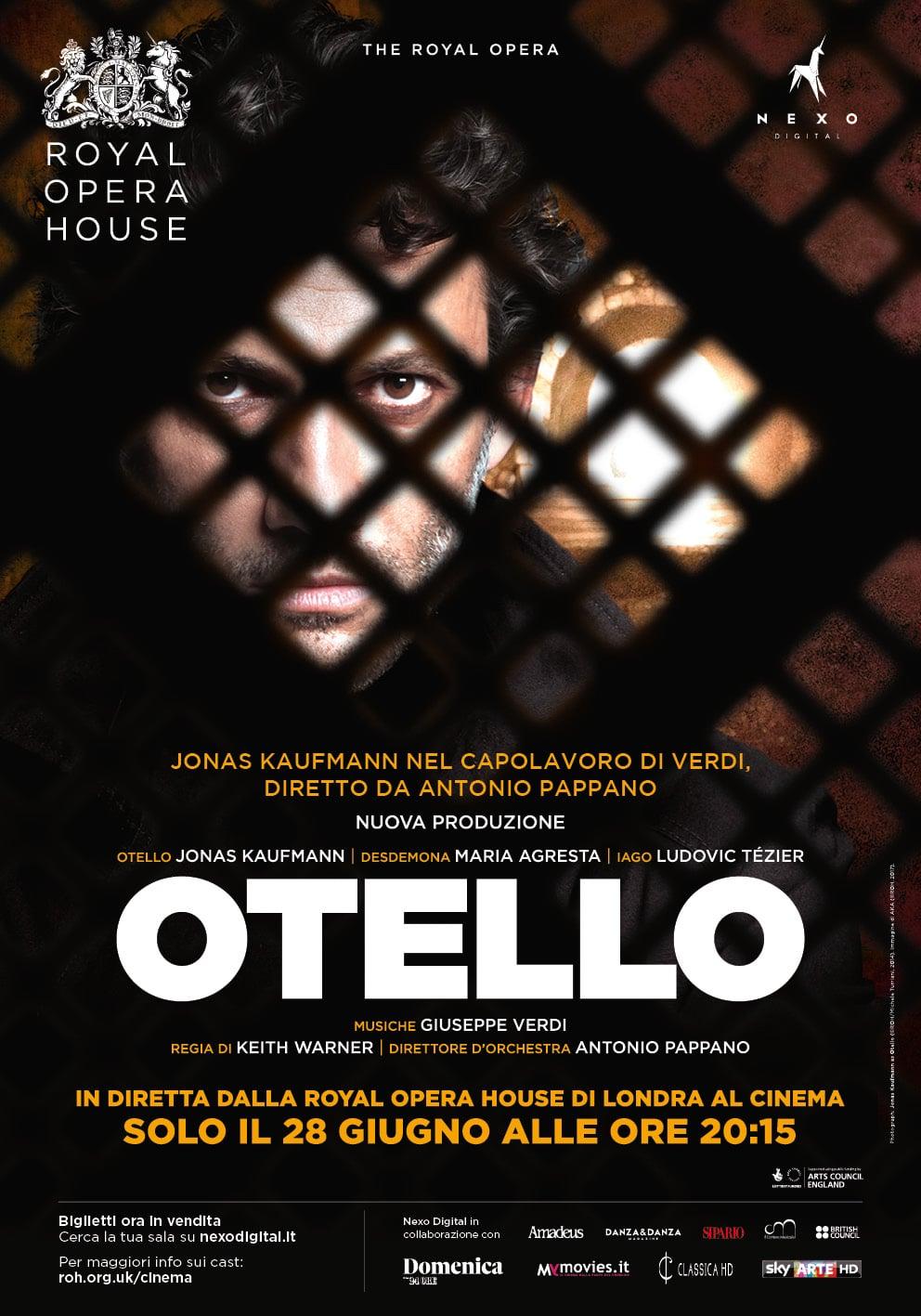 Otello al cinema in diretta via satellite dalla Royal Opera House di Londra