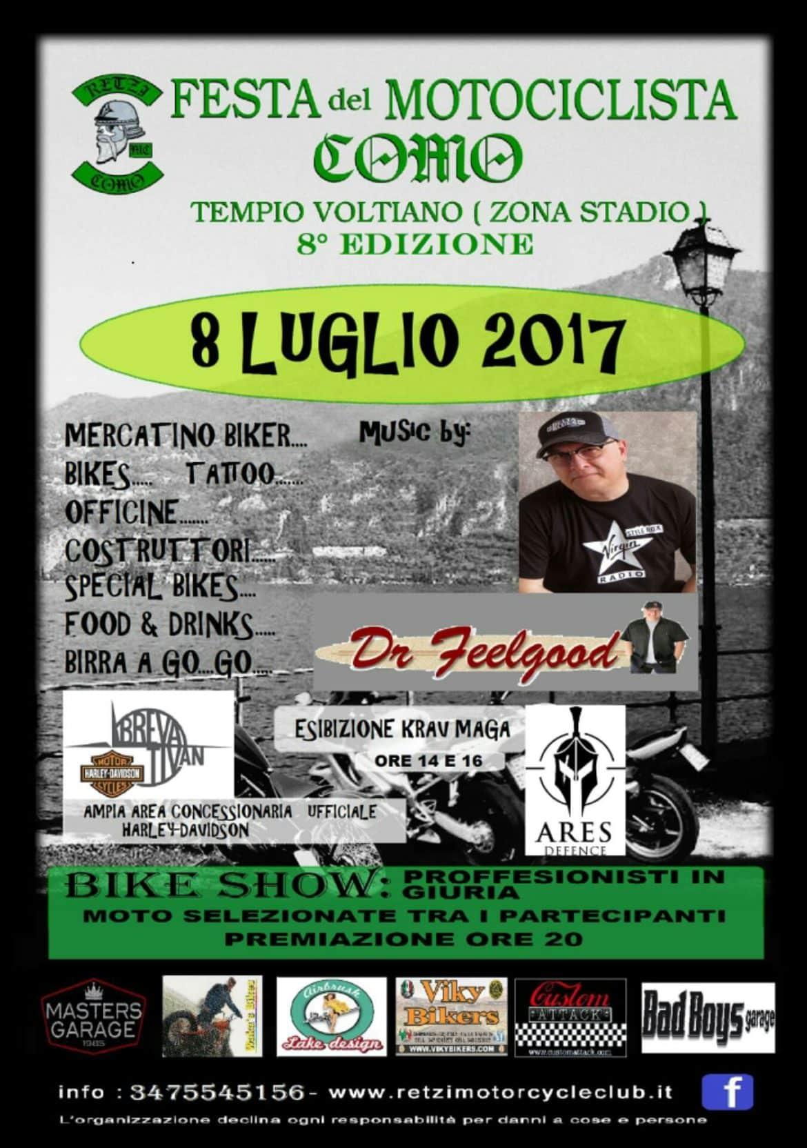 Festa del motociclista: si accendono i motori a Como