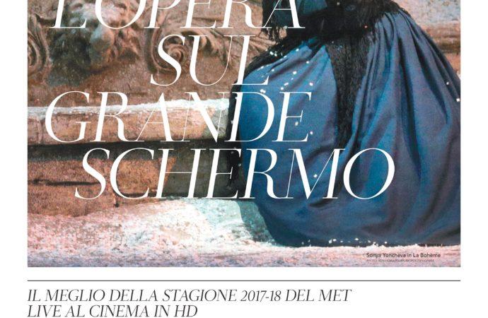 Dal Metropolitan Opera al cinema quattro celebri opere liriche