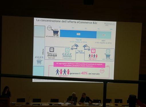 Presentazione dati eCommerce B2c in Italia: parola d'ordine realizzare delle soluzioni ibride online-offline.