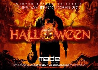 Made Club Como: 27/10 Cenando e Ballando + The Club, 28/10 Tributo a Ligabue, 29/10 Nueva Explosion Latina! 31/10 Halloween Night Party