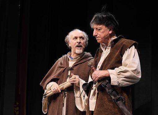 Pippo Franco interpreta  Brancaleone al Teatro San Babila