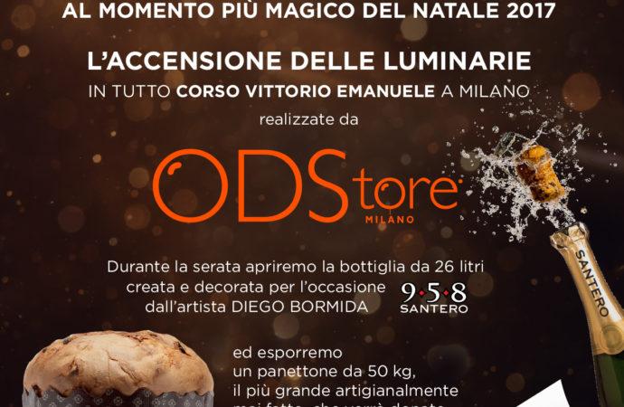 A Milano Cerimonia di Accensione delle Luminarie – Protagonista anche ODStore