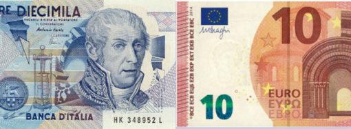 La differenza tra Lira ed Euro