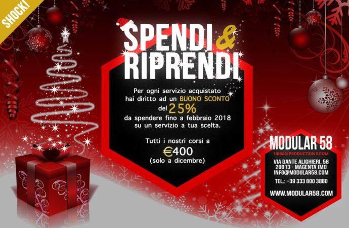Modular 58 – Magenta (MI), a dicembre 2017 c'è Spendi & Riprendi: tutti i corsi a 400 euro ed un ulteriore buono sconto del 25%