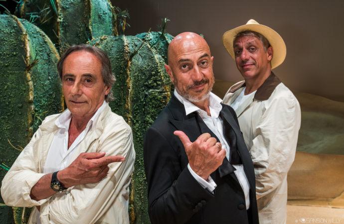 Roberto Ciufoli, Nino Formicola e Max Pisu