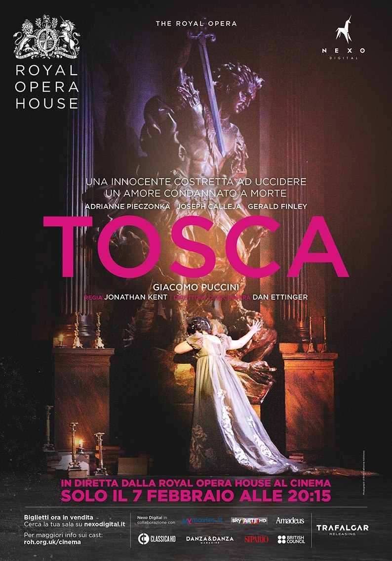 La Tosca di Puccini al cinema, in diretta via satellite dalla Royal Opera House di Londra
