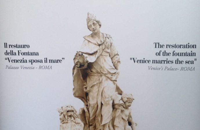 """L'azienda Rigoni di Asiago sponsorizza il restauro della Fontana """"Venezia sposa il mare"""" di Palazzo Venezia a Roma"""