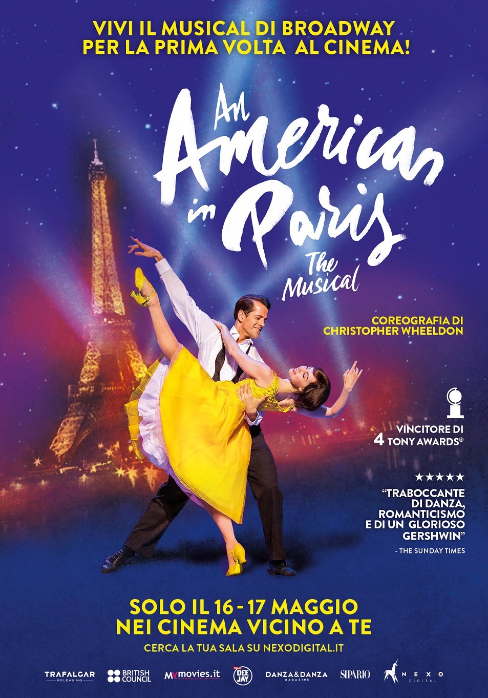 An American in Paris, il musical di Broadway, al cinema il 16 e 17 maggio