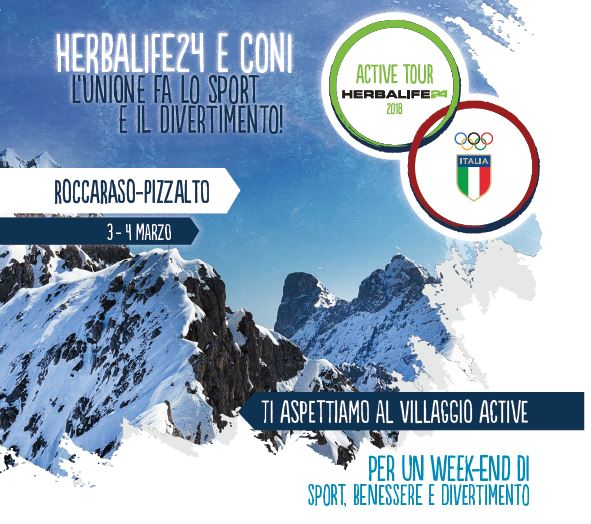 Week end imperdibile a Roccaraso: CONI ed Herbalife24 insieme per la tappa del Winter Tour 2018