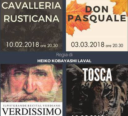 L'opera Tosca  di Puccini al Teatro San Babila il 19 maggio 2018