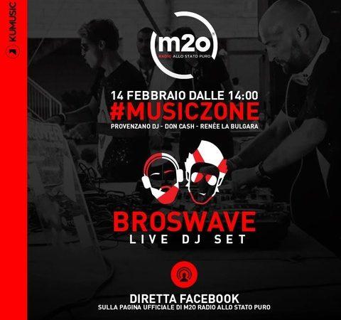 Broswave ospiti di Music Zone, su m2o