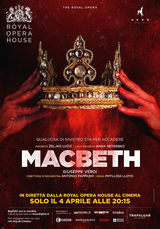 Il dramma Macbeth al cinema il 4 aprile in diretta via satellite dalla Royal Opera House di Londra