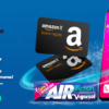 Con Air Action Vigorsol Vinci un IphoneX a settimana e 1.000 Amazon cards al mese
