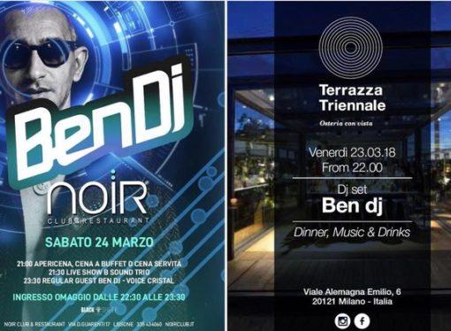 Ben Dj fa muovere a tempo Milano: dj set tra Bullona, Osteria con Vista, Noir e Canteen