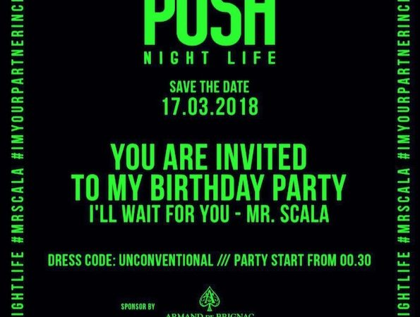 17/3 Vittorio Scala / Posh Nightlife birthday party @ Porta D'Oro – Milano