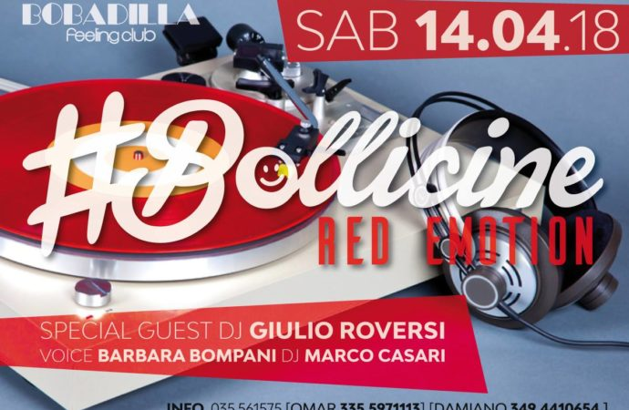 14/04 #Bollicine Red Emotion @ Bobadilla – Dalmine (BG)