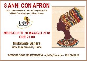 Afron, otto anni di solidarietà