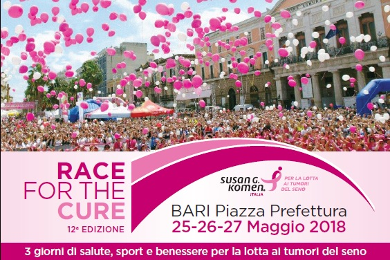 Herbalife Nutrition di corsa contro il tumore al seno: è Partner della Race for the Cure di Bari