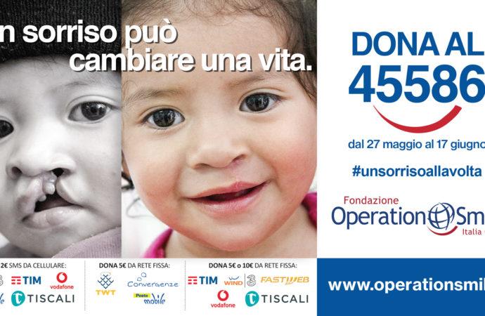 Fondazione Operation Smile Italia Onlus lancia una campagna raccolta fondi  per la lotta al labbro leporino