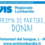 Dona prima di partire la campagna estiva dell'Avis Regionale Lombardia