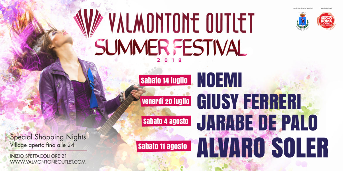 A Valmontone Outlet torna il Summer Festival