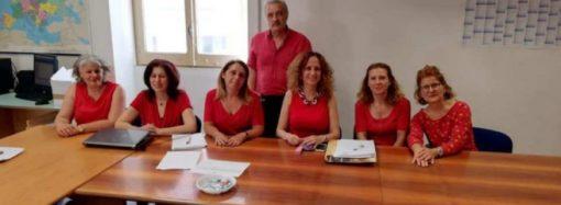 La coerenza degli insegnanti con la maglietta rossa