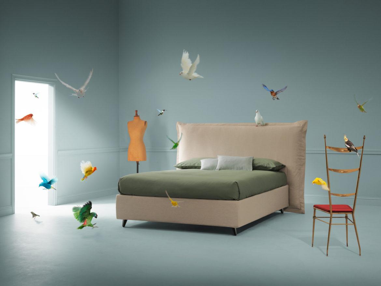 Fabio Novembre disegna il letto Abito denim per il brand PerDormire