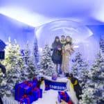 Apre a Milano il Samsung Snow Globe