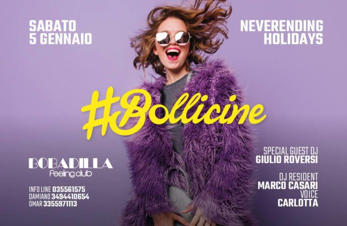 5/1 Bollicine Never Ending Holidays Party fa muovere Bobadilla – Dalmine (BG) by DV Connection