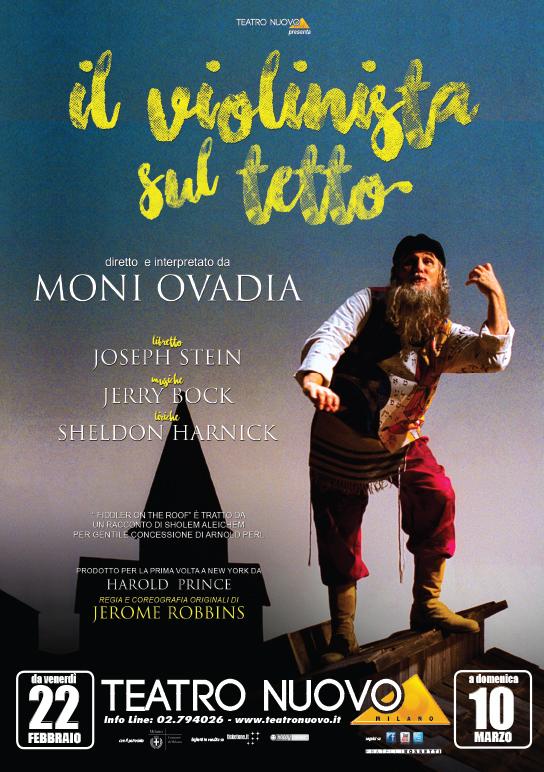 Al Teatro Nuovo di Milano Moni Ovadia interpreta Il Violinista sul tetto